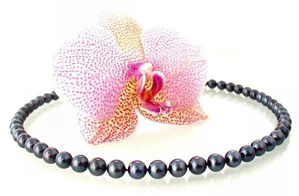 Огърлица от естествени морски перли-колие бижута уникати