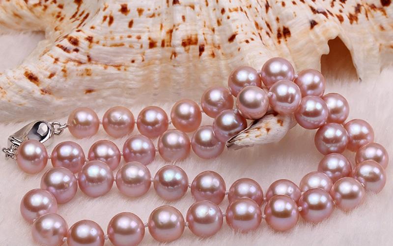 Комплект с перли.Колие-огърлица,гривна и обеци от естествени перли от о-в Майорка