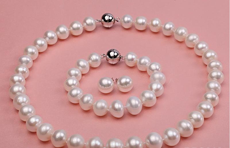 Комплект от естествени перли със сертификат