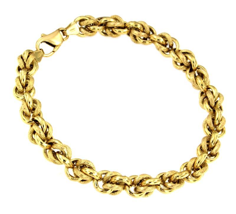 Гривна от стомана.Бижута от стомана.Уникална имитация на истинско  злато.