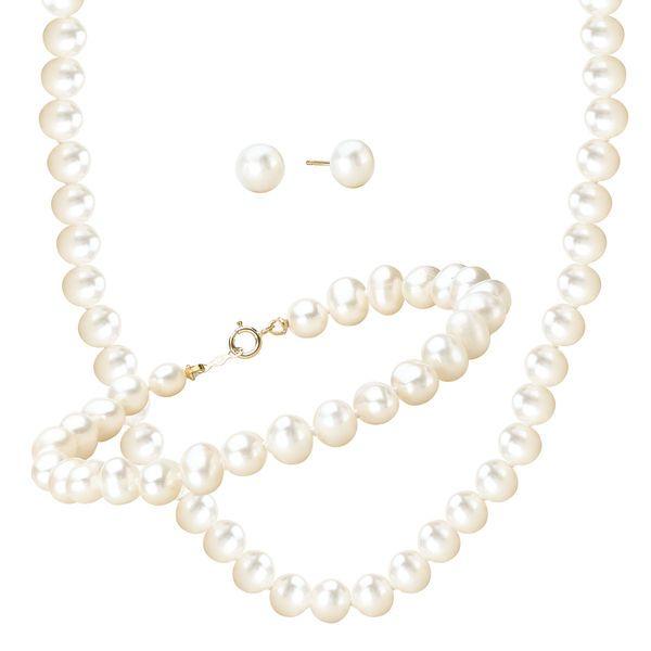 Комплект от естествени морски перли от о-в Майорка
