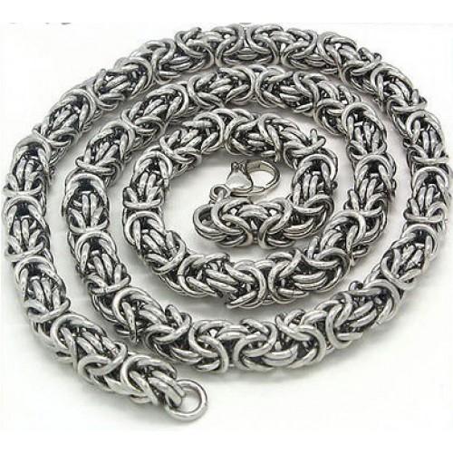 Комплект от неръждаема стомана -ланец и гривна за мъже