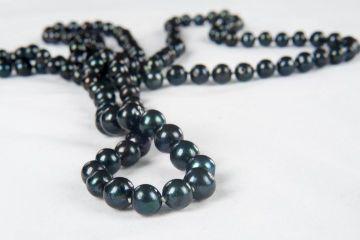 Колие от перли.Оригинално колие от естествени морски перли.Черни перли