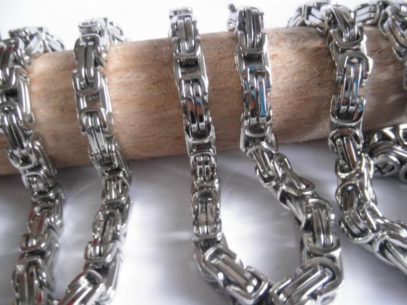 Комплект сребърна плетка ланец и гривна