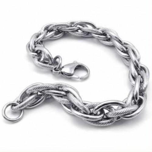 Мъжка гривна от  стомана-Уникат-К7