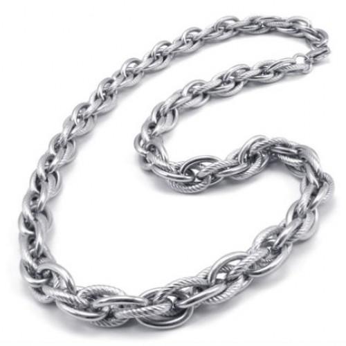 Мъжки ланец от стомана-бижутерия Елиза Кристал