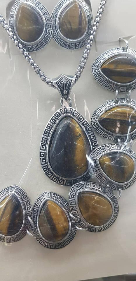 Бижута от естествени камъни  ТИГРОВО ОКО ЗА ПАРИ