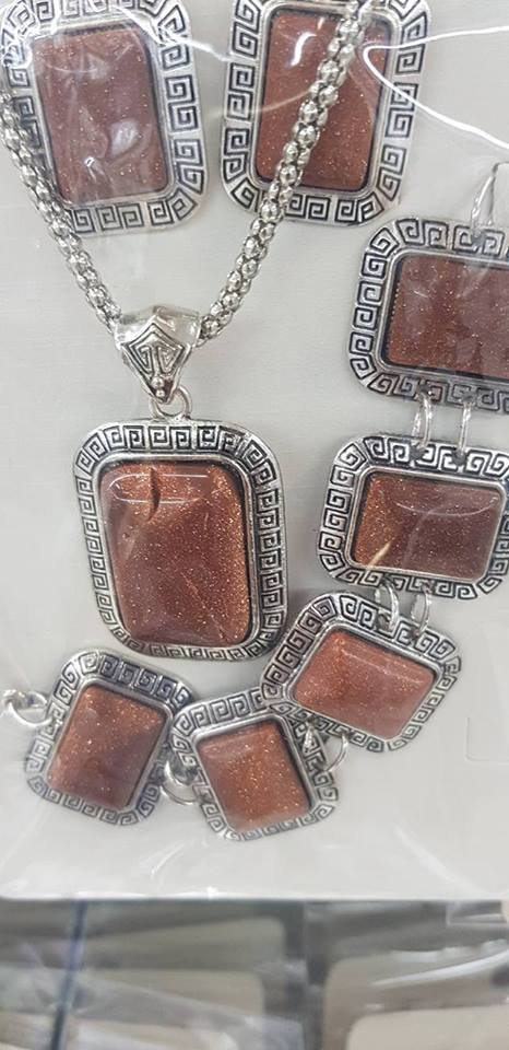 Бижута от естествени камъни КАРНЕОЛ ЗА ПАРИ