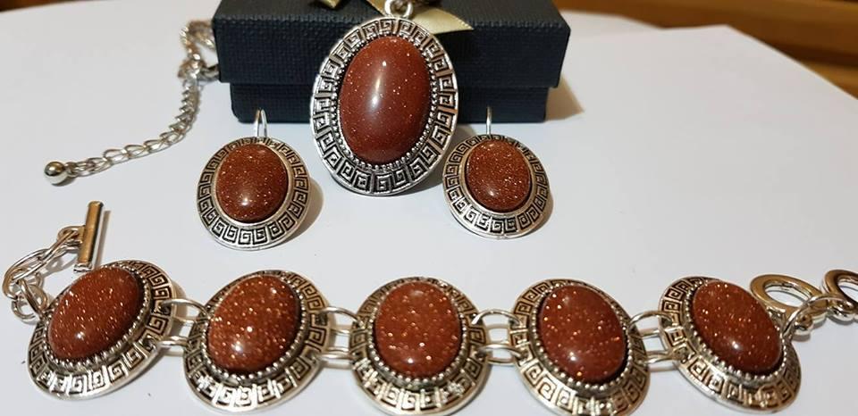 Бижута АВАНТЮРИН комплект от естествени камъни
