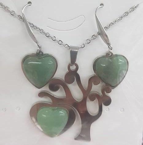 Комплект от естествени камъни  за здраве любов и пари нефрит