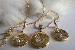 Колие и обеци от стомана КОД 550