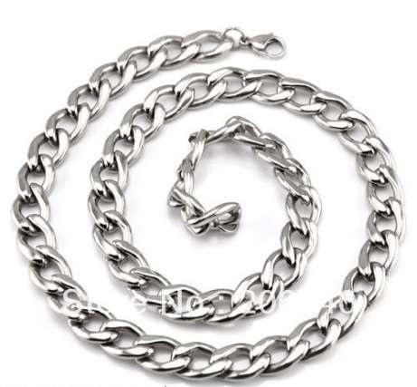 Комплект бижута-ланец и гривна от стомана
