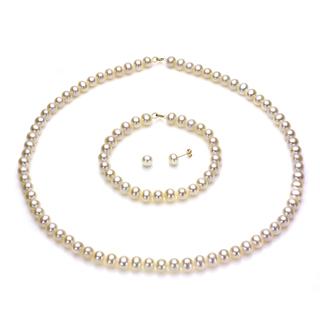 Колиета,обеци и гривни от естествени перли