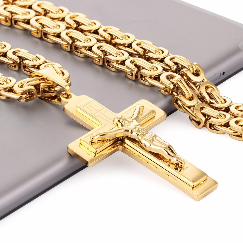 Ланец и кръст от стомана.Бижута от стомана