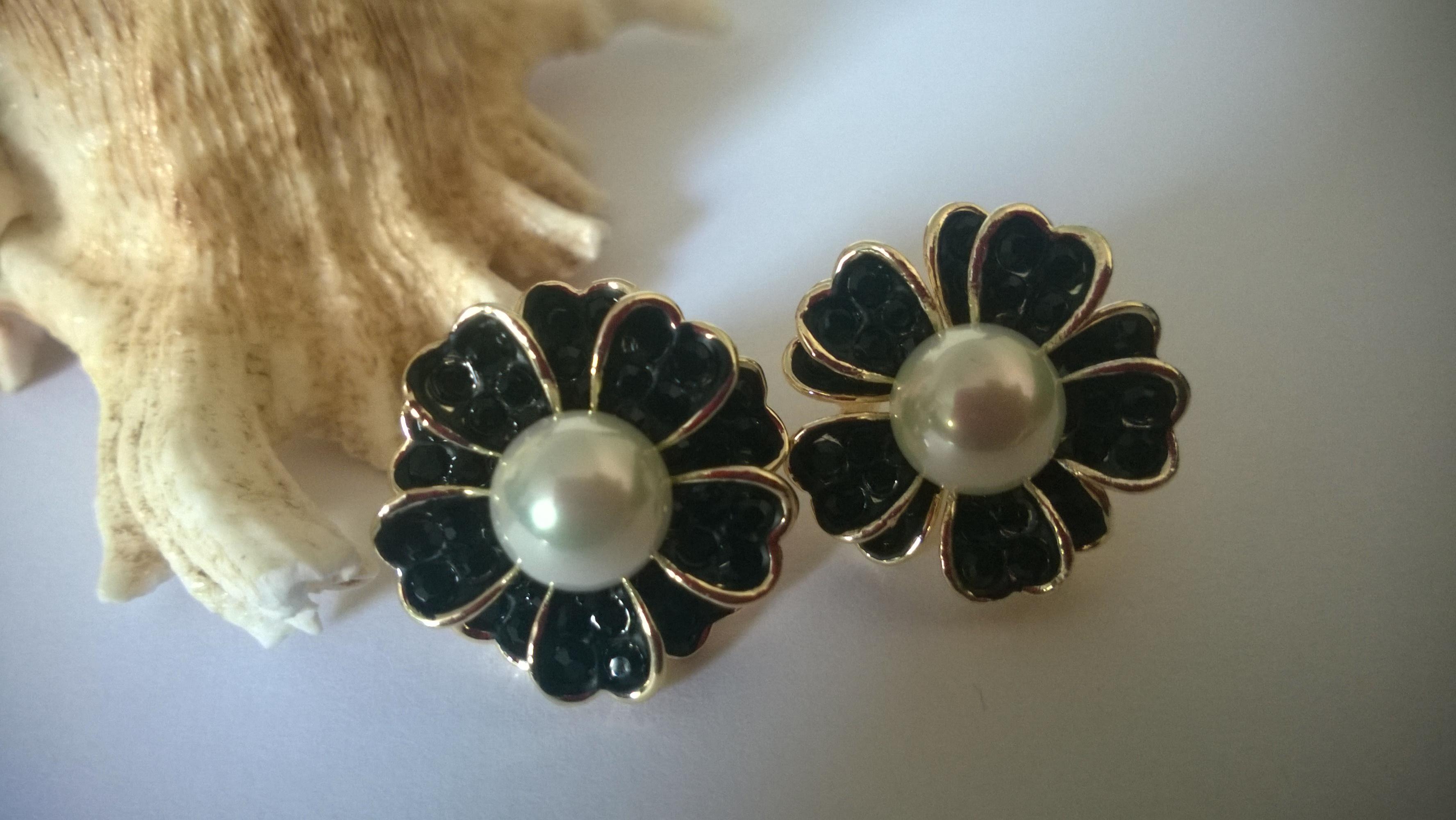Обеци от бели естествени перли+