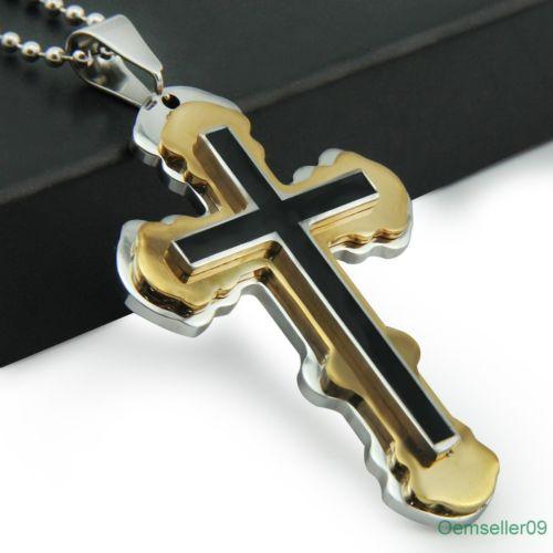 Кръст за мъже от стомана-бижута и кръстове