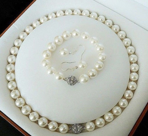Комплект от естествени перли от о-в Майорка