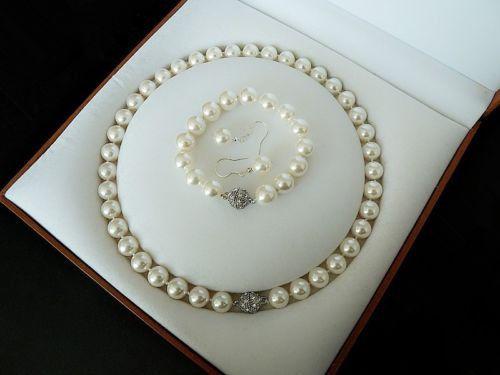 Бижута от естествени перли.Комплекти от перли.Със сертификат.