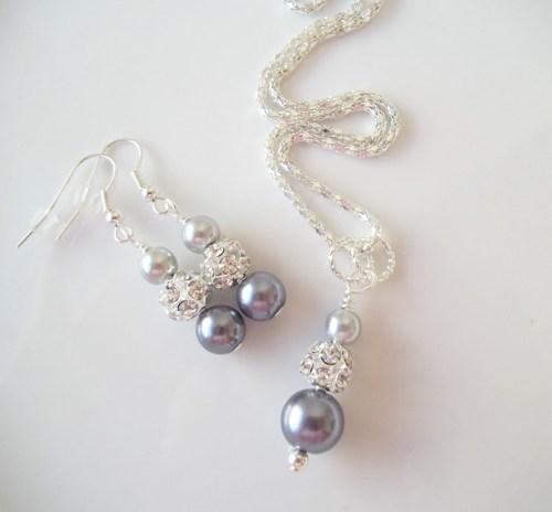 Колиета и обеци от перли-естествено морски перли от о-в Майорка