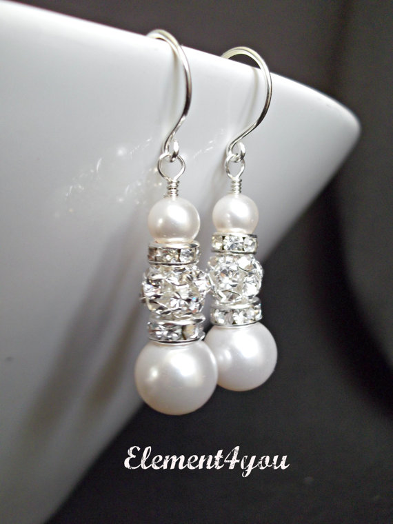 Дамски обеци от естествени морски перли от о-в  Майорка.Бижута от естествени перли.Перли от о-в Майорка