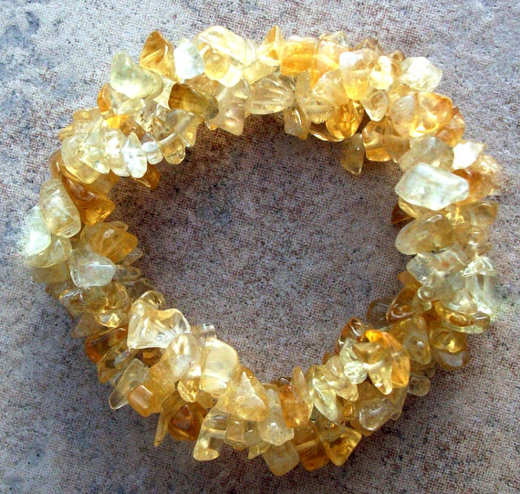 Гривна от естествени камъни-цитрин