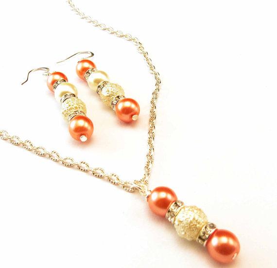 Колие и обеци от естествено морски перли от о-в Майорка