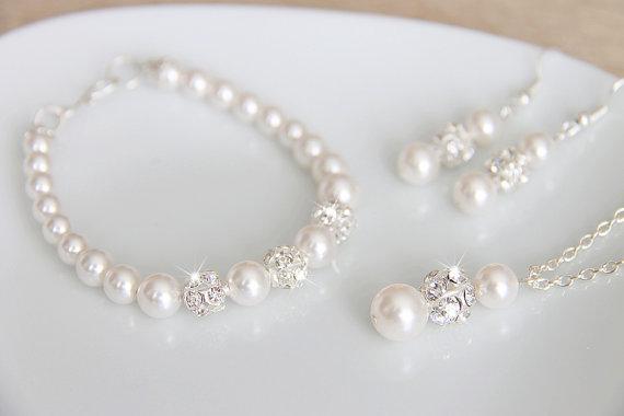 Комплект бижута  от перли