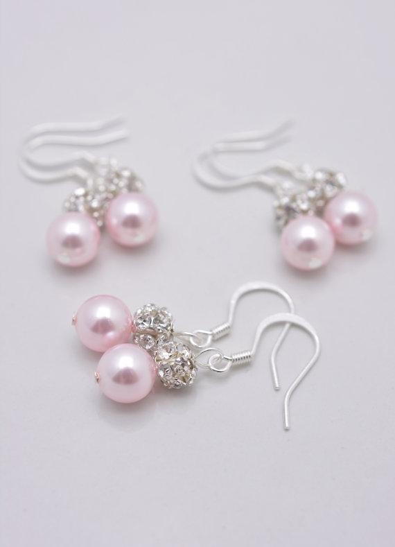Обеци от естествени перли и тройна  18КТ