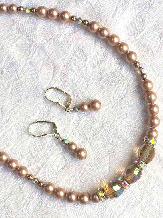 Огърлица,гривна и обеци от естесвени перли