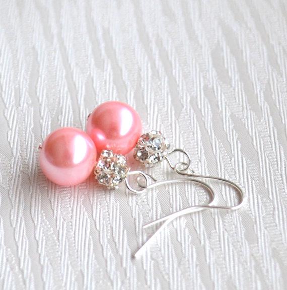 Перлени бижута.Бижута от естествена перла.Обеци от перли