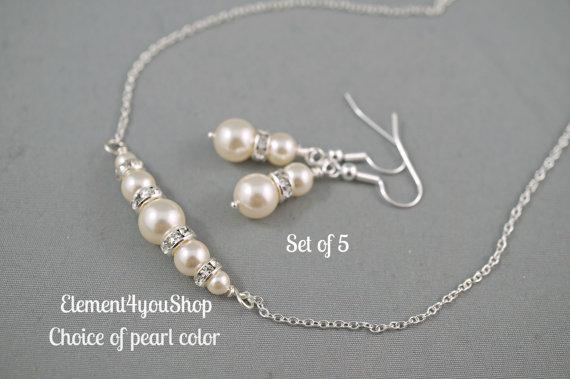 Бижута от бели перли