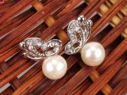Луксозни обеци от естествени перли.Бижута от естествени перли.