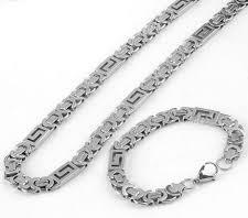 Мъжки ланец от стомана -бижута от стомана.Бижута за мъже