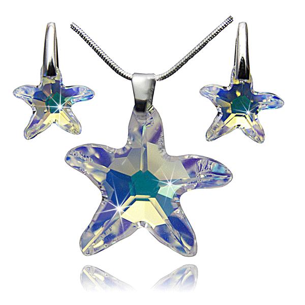 Колие и обеци от уникални кристали-Сваровски елементи