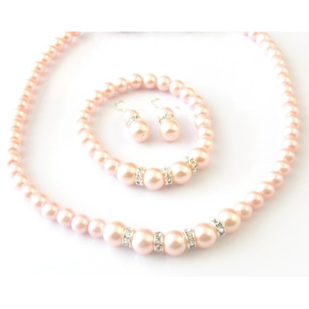 Комплект от естествени  перли