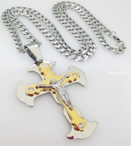 Кръст и ланец от стомана-бижута от стомана